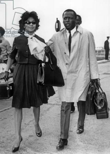 Miles Davis and his wife