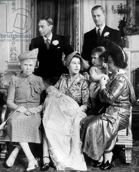British Royal Family (b/w photo)