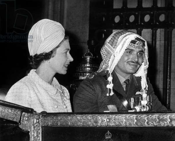 King Hussein of Jordan and Queen Elizabeth II of England