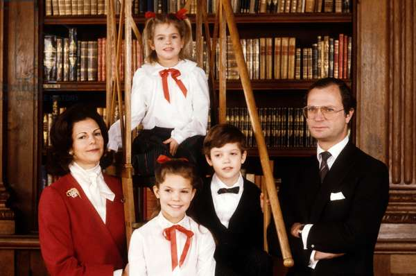 Charles Gustave and Silvia de Suede as a family