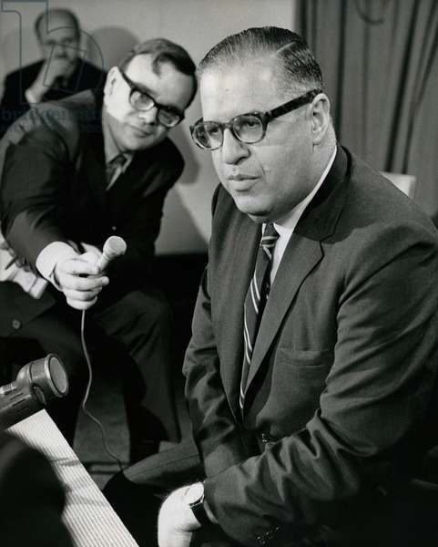 Abba Eban (b/w photo)