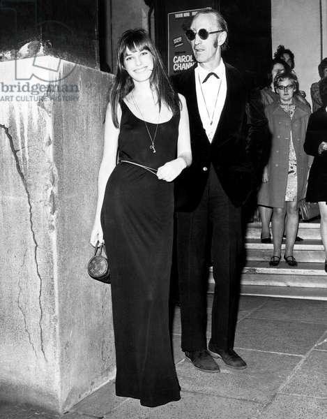 Jane Birkin and her father David