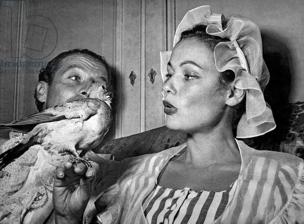 Gene Tierney, Bal au Palazzo Labia, Venise, Italie, 4 septembre 1951 (photo b/s)