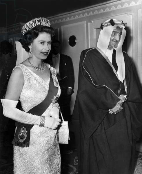Queen Elizabeth II and King Faycal