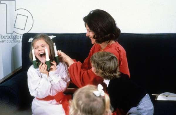 Silvia de Suede and her children