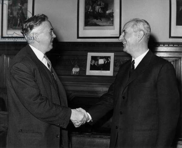 Harold Wilson and Gaston Deferre