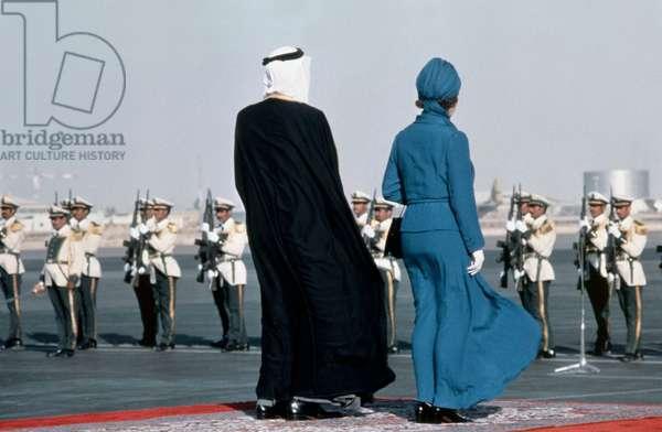 Elizabeth II and Prince Fahd