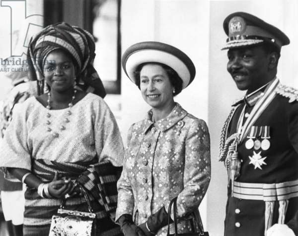 Queen Elizabeth II of England and General Gowon