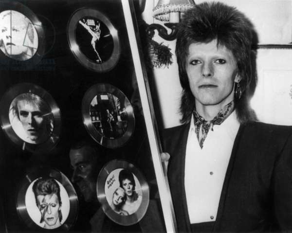 David Bowie received six gold records in 1974