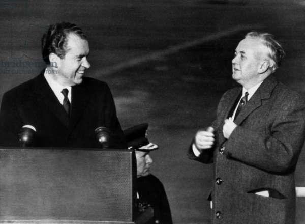 Richard Nixon et Harold Wilson