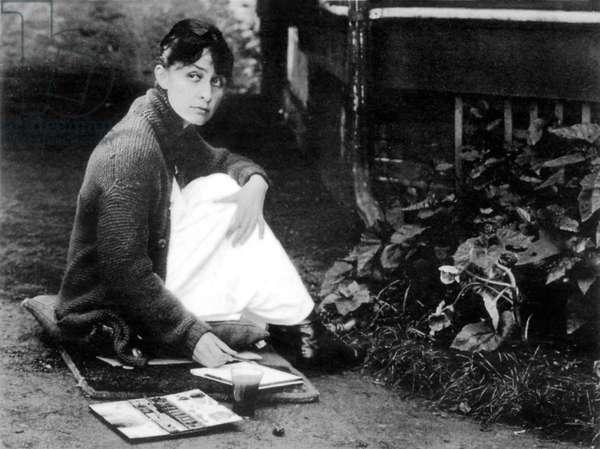 Georgia O'Keeffe, 1918 (b/w photo)