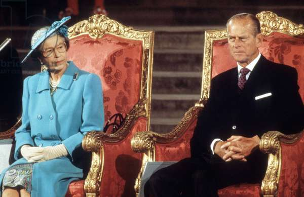 Elizabeth II of England and the Duke of Edinburgh