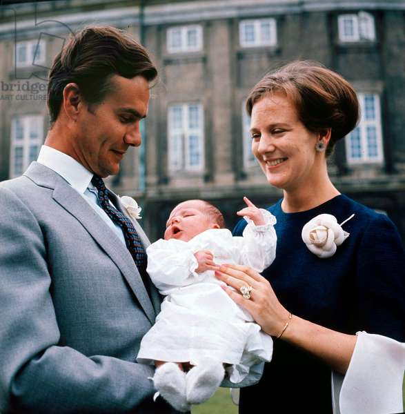 Margrethe II of Denmark with family