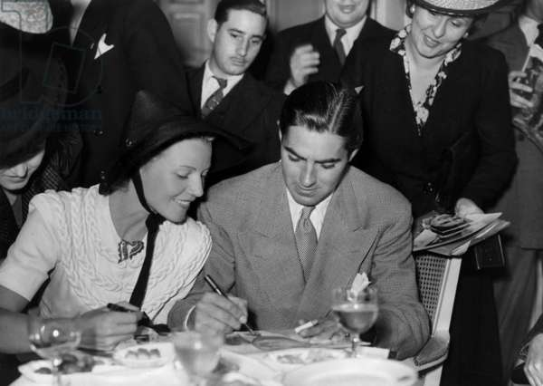 Tyrone Power Before The War With His First Wife Annabella (b/w photo)