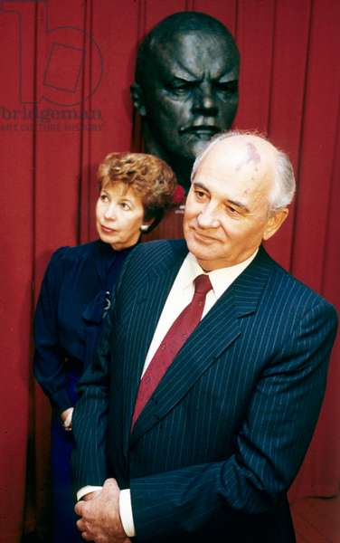 Mikhail Gorbatchev, President of Ussr, and his Wife Raissa here in October 1989 in Finland (photo)