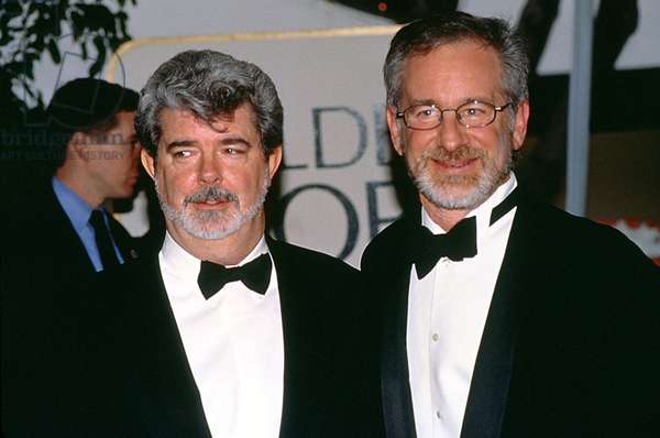 Steven Spielberg and Georges Lucas at Golden Globe Awards 1999 (photo)