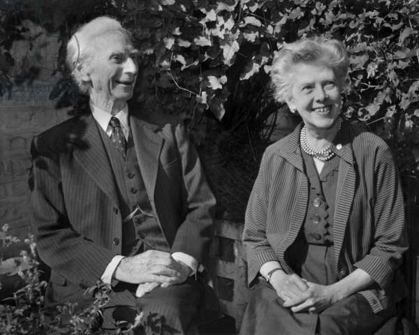Bertrand Russell and his Wife, September 18, 1961 (b/w photo)