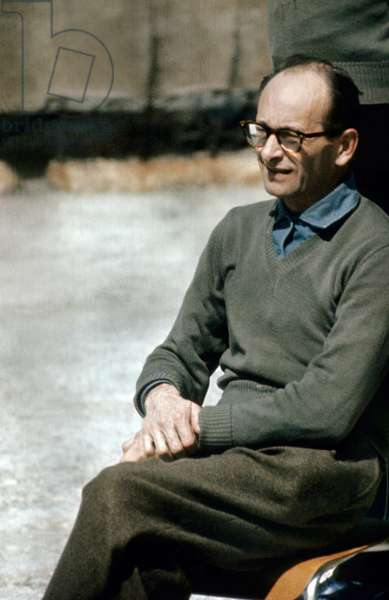Adolf Eichmann (1906-1962) Former Ss Lieutenant-Colonel Who Was Chief of The Jewish Office of The Gestapo, here After his Arrest Oon May 1960, Waiting For his Trial (1961) (photo)