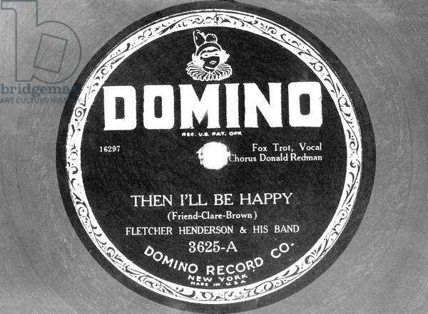 """Disc of Fletcher Henderson With """"Then I'Ll Be Happy"""" (b/w photo)"""