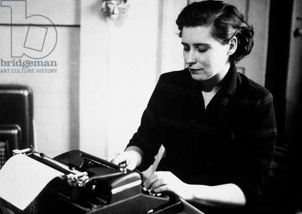 Doris Lessing English Feminist Novelist here C. 1946 (b/w photo)