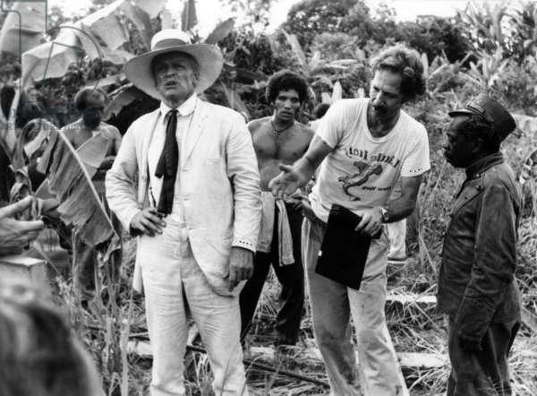 Werner Herzog and Klaus Kinski on Set of Film