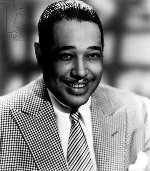 Duke Ellington (1899-1974) American Pianist and Composer here C. 1945 (b/w photo)