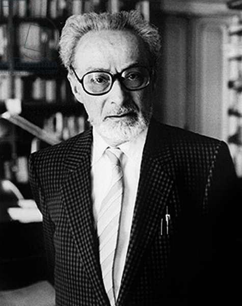 Primo Levi (1919-1987) Italian Author (b/w photo)