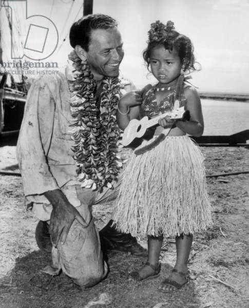 Frank Sinatra To Hawai November 2, 1961 (b/w photo)