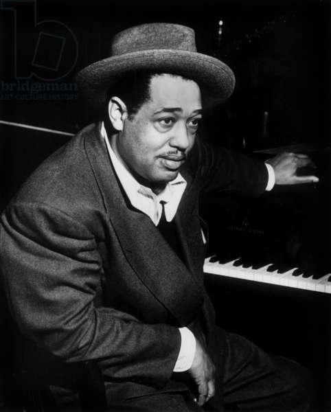 Duke Ellington (1899-1974) Black American Pianist Composer and Conductor Jazzman in 1944 (b/w photo)