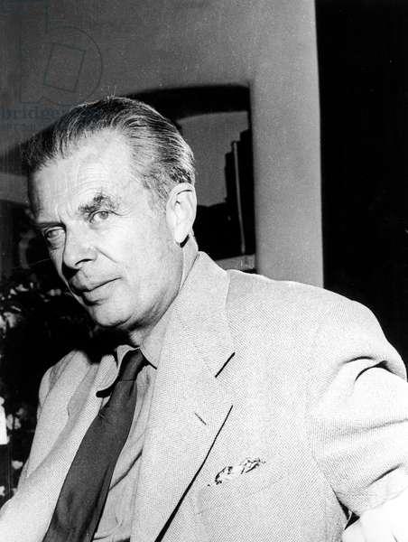 Aldous Huxley (1894-1963) English Novelist and Essayist C. 1955 (b/w photo)