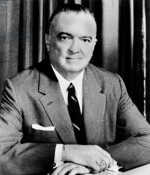 John Edgar Hoover (1895-1972) American Administrator and Director of The Federal Bureau of Investigation in 1925-1972, C. 1955 (b/w photo)