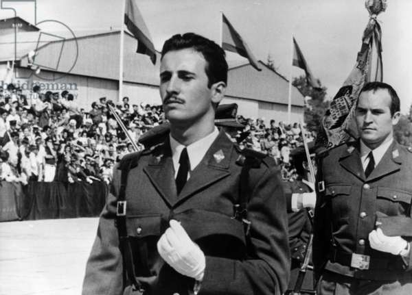 Francisco Martinez Bordiu Said Franco Ii, Franco'S Grandson, Take The Oath To his Flag and Country The Day He Entered The Army, September 19, 1973 (b/w photo)