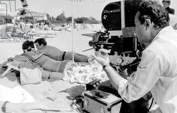 Audrey Hepburn With Albert Finney on Set of Film