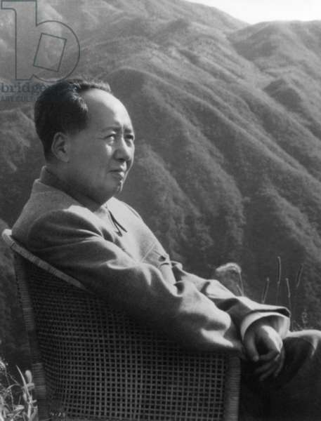 Mao Zedong (1893-1976) Leader of Chinese Communist Party President of Popular China 1949-1959 and 1968-1976 (b/w photo)