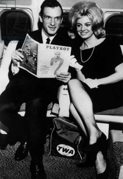Hugh Hefner and Cynthia Maddox February 2, 1962 (b/w photo)