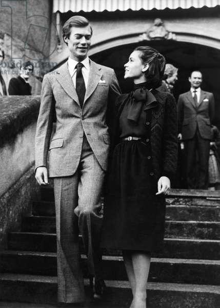 Engagement of Henri, Grand Duke of Luxembourg and Maria Teresa de Mestre at Berg Castle, November 13, 1980 (photo)