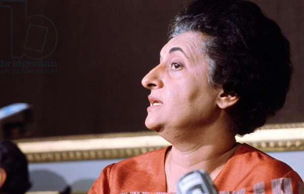 Indira Gandhi in Paris during Campaign Against Poverty and Destitution in India November 1971 (photo)