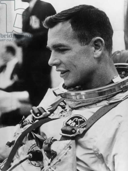 Astronaut David Scott One of Three Cosmonauts Members of Apollo's Crew 9 December 28, 1968 (b/w photo)