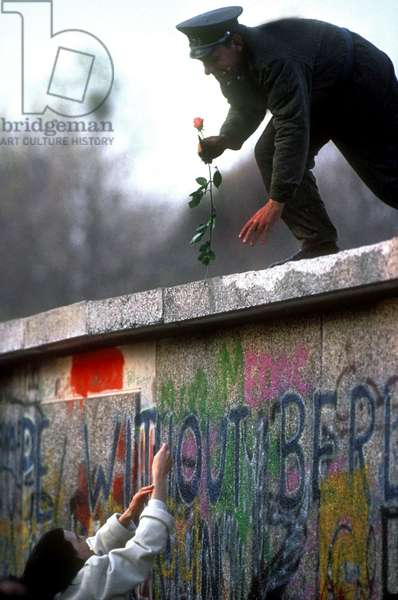 The Fall of the Berlin Wall, 9th November 1989 (photo)