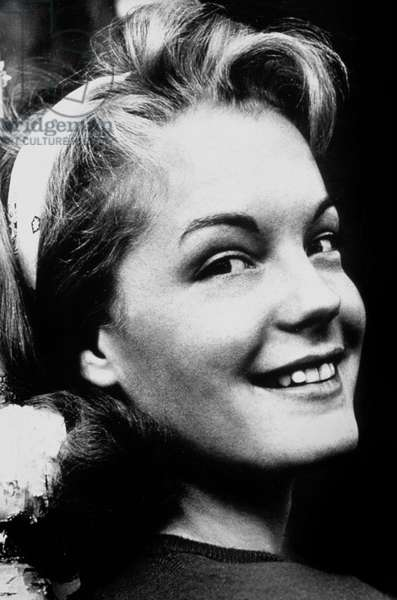 Actress Romy Schneider C. 1958 (b/w photo)