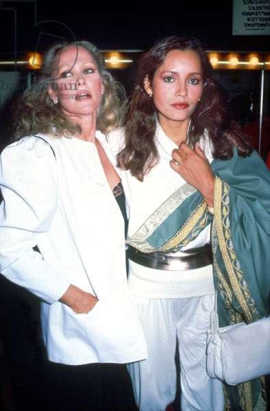 Actresses Ursula Andress and Barbara Carrera 1983 (photo)
