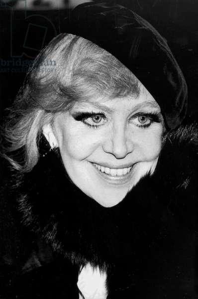 Hildegard Neff (Hildegard Knef) January 12, 1981 (b/w photo)
