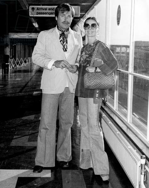 Natalie Wood and Husband Robert Wagner 1977 (b/w photo)