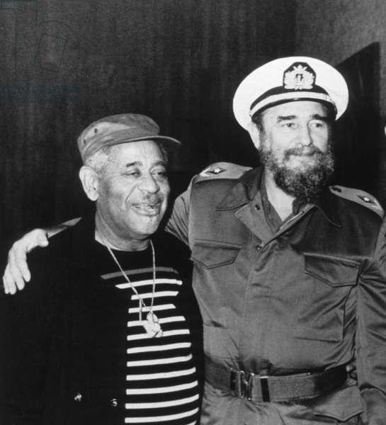 Dizzy Gillespie and Fidel Castro, 1988 (photo)