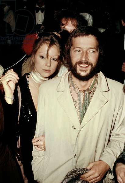 Eric Clapton and Patti Boyd (Ex-Wife of Georgesharrison) in 1974 (photo)