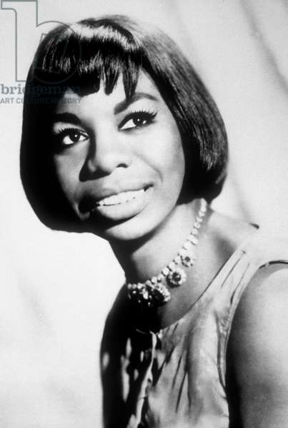 Nina Simone (1933-2003) American Jazz Singer, C. 1965 (b/w photo)