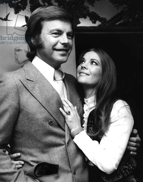 Natalie Wood and Robert Wagner in The 70'S (b/w photo)