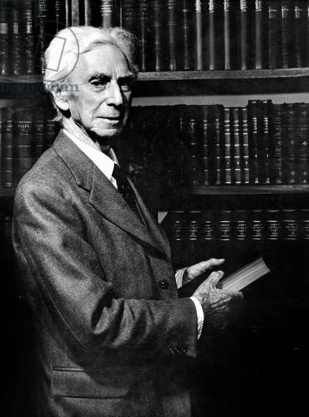 English Mathematicien and Philosopher Bertrand Russell (1872 - 1970), Militant and Leader of The Committee of 100 For Nuclear Disarmament  (b/w photo)