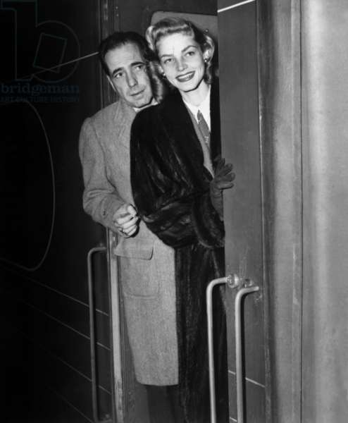 Humphrey Bogart and Lauren Bacall C. 1951 (b/w photo)