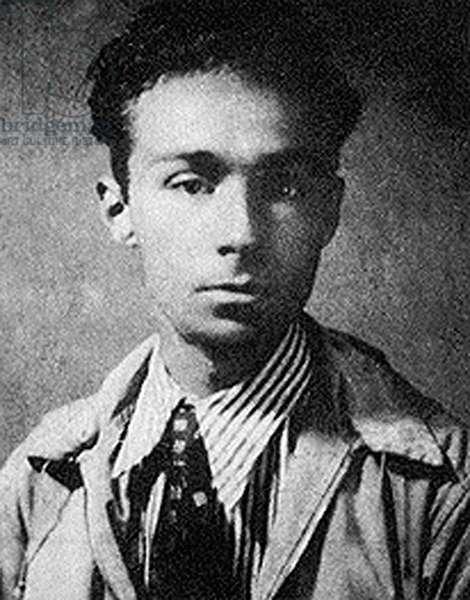 Primo Levi, 1941 (b/w photo)